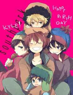 Cartman, Stan, Kyle, Kenny, and Ike