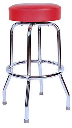 Gentle Chic Kitchen Bar Stool Chrome Pu Leather Swivel Gas Lift Chair High Seat Metal Diversified Latest Designs Furniture Bar Stools