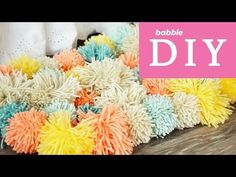Pom Pom Rugs look and feel great and they are a very easy diy you'll love to try. Be sure to check out the video tutorial too.