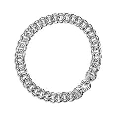 Buckle Chain Necklace with Diamonds