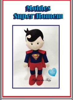 Molde Superman de feltro!