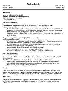 resume cv engineering forward example of petroleum engineering