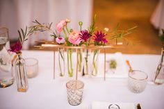 @mikaellabridal   Real Bride Shelby Centerpieces