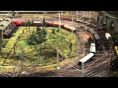 15 trains running automatic: 2 years of work: Märklin HO Modelleisenbahn Anlage