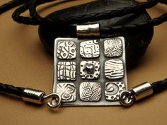 Fine Silver Patchwork Quilt Pendant  PMC  Choice of by Silvermaven, $145.00