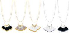 http://www.comptoirdesmuses.bigcartel.com/category/thalie-plumes  Colliers dorés plumes