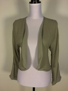 ARMANI COLLEZIONI Gray 100% Silk Open Flyaway Blouse Top Sz 6 $44.99 #armani #dodiesdoodads