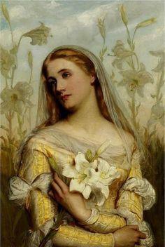 Swynnerton, Annie Louisa Robinson (b,1844)- Woman w Wild Flowers