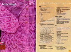 Receita de Tricô: Casaquinho rosa em tricô