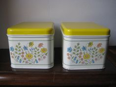 Vintage canisters, kitchen canisters, metal storage, metal kitchen decor ,vintage metal canisters at Designs by Willowcreek on Etsy by DesignsByWillowcreek on Etsy Vintage Canisters, Kitchen Canisters, Vintage Tins, Vintage Metal, Vintage Kitchen, French Vintage, Shabby Cottage, Kitchen Decor, Storage