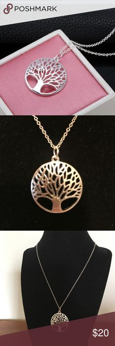 "💥$10.00💥 925 S.S.TREE OF LIFE PENDENT NECKLACE. 💥$10.00💥 ON SALE FOR A LIMITED TIME OMLY!!  This is a beautiful piece. Sterling Silver pendant is 1"" across and comes with a necklace 18""  If you're interested please message me. I will drop the price and you will get discounted shipping. All orders get a free mystery spa gift 🎁 Jewelry Necklaces"