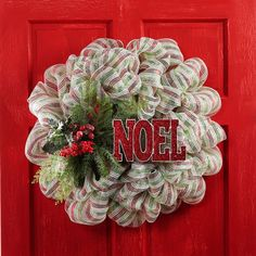 Create this Traditional Christmas Mesh Wreath easily and greet your guests with holiday spirit