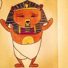 #mywork #illustration #bearcartoon #pharaohbear
