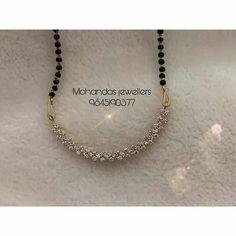 Diamond Mangalsutra, Gold Mangalsutra Designs, Gold Earrings Designs, Necklace Designs, Fancy Jewellery, Gold Jewellery Design, Gold Jewelry Simple, Diamond Necklace Simple, Diamond Jewelry