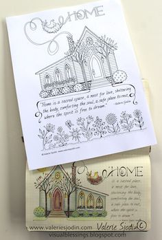 visual blessings: The Cozy Story Behind Colorful Blessings: Home Sweet Home