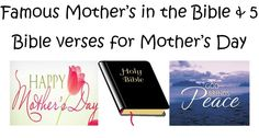 Famous Mother's in the Bible and special Bible verses for Mother's Day