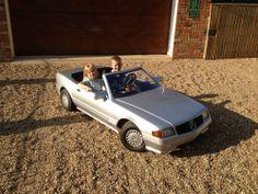 MERCEDES SL 500 SCALE PETROL TOT ROD CHILDRENS CAR GO KART 1990 ERA HANDBUILT