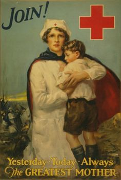 vintage red cross poster