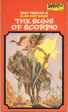 JOSH KIRBY - The Suns of Scorpio by Alan Burt Akers - 1975 DAW Books