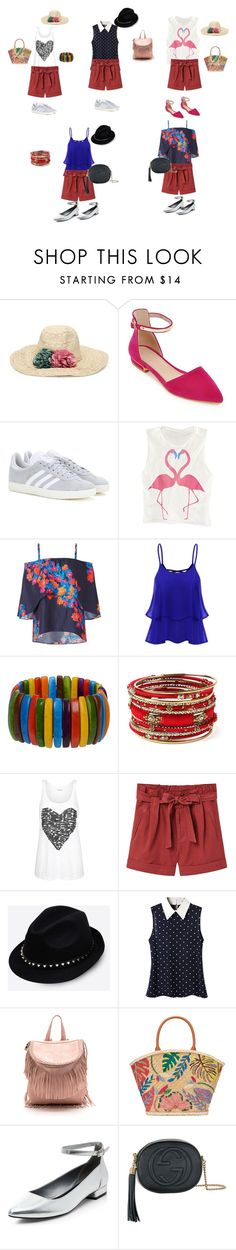 """""""Untitled #123"""" by mariela-hayoon on Polyvore featuring adidas, Tanya Taylor, Amrita Singh, MANGO, Valentino, Tory Burch, New Look and Gucci"""