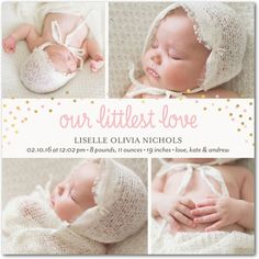 Fun Confetti Love: Bloom - Girl Photo Birth Announcements in Bloom | Baby2Baby