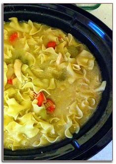 Crockpot Chicken Noodle Soup Sweet Peas And Saffron. Easy Crock Pot Vegetable Beef Soup The Typical Mom. Slow Cooker Recipes, Crockpot Recipes, Soup Recipes, Cooking Recipes, Easy Recipes, Cheap Recipes, Crockpot Dishes, Hamburger Recipes, Casserole Recipes