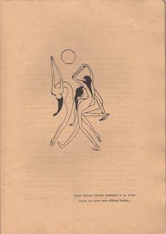 "Helene Perdriat ""Three Crazy Girls Dance To The Moon"" second series, n o Paris, July 1916 Dainty Tattoos, Pretty Tattoos, Mini Tattoos, Small Tattoos, Art Sketches, Art Drawings, Geniale Tattoos, Future Tattoos, Tattoo Inspiration"