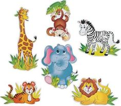 Jumbo Zoo Animal Cutouts