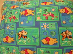 Our Favorite Teddy Bear and His Pals Frolic on This Pillowcase Bright Blue, Green, Red and Yellow Colors in this Beautiful Pillowcase Large Size