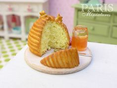 Beehive Brioche with Honey  Miniature Food by ParisMiniatures