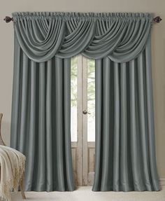 I hate the valance...but curtains panels could be customized with trim/tassels.  -------  Cheap curtains, faux  silk blackout curtains, grey silk curtains, blue silk curtains, faux silk drapes, blackout curtains. S curtains, LK customize, customize