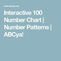 Interactive 100 Number Chart | Number Patterns | ABCya!