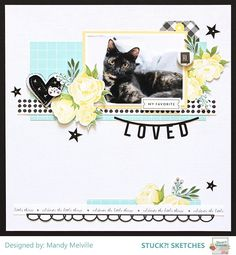 Hi there! Today we are sharing some more Design Team Inspiration and a Guest layout using our September 15th 2017 Sketch! If you recall, w...