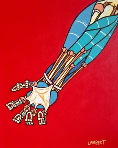 Robot Stress - Acrylic Painting #illustration #artwork #painting #robot #android #hand