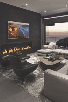 Living Room with Fireplace Design and Ideas That will Warm You All Winter Most Popular Interior Design Styles Defined in 2018 Living Room Modern, Living Room Interior, Home Interior Design, Living Room Designs, Living Room Decor, Luxury Living Rooms, Small Living, Living Room Contemporary, Contemporary Interior
