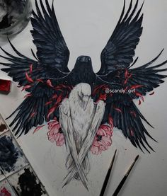 Demon Drawings, Art Drawings Sketches, Tattoo Sketches, Tattoo Drawings, Viking Tattoo Symbol, Viking Tattoos, Creepy Art, Weird Art, Symbolic Tattoos