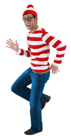 Check out Adult Where's Waldo Costume - Where's Waldo Mens Costumes from Wholesale Halloween Costumes Book Costumes, Book Week Costume, Adult Costumes, Literary Costumes, Horse Costumes, Group Costumes, Halloween Fancy Dress, Funny Halloween Costumes, Cool Halloween Costumes