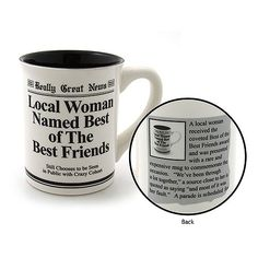 Enesco Best Friends Mug | Creative 30th Birthday Gift Ideas for Best Friend - Girls Edition