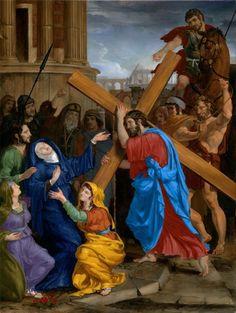 Stations of The Cross 4: Jesus Meets His Mother. Artist: Leonard Porter