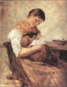 """Mother and Child, Iakovidis, """"Μητέρα με παιδί"""",. Mother And Child Reunion, Mother And Baby, Women In History, Art History, Mother Images, Religious Images, Victorian Art, Mothers Love, Beauty Art"""