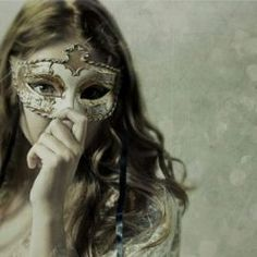 Masquerade girl masks dance white