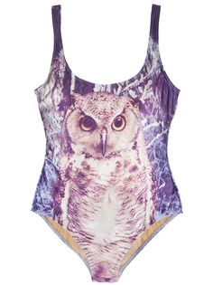 We Are Handsome Owl one piece  - makes me think of Twin Peaks!