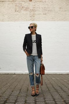 Fashion Cognoscente: Trend Alert: Ripped Jeans + Distressed Denim
