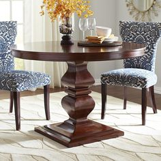Devon Round Dining Table - Mahogany Brown | Pier 1 Imports