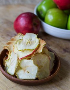Caramelized Apple Chips. Boiled in sugar water and then baked (on rack placed in jelly roll pan) at 350 for 12 minutes