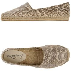 Sam Edelman Espadrilles ($57) ❤ liked on Polyvore featuring shoes, sandals, ivory, flat sandals, snake print shoes, leather shoes, ivory flat shoes and sam edelman espadrilles