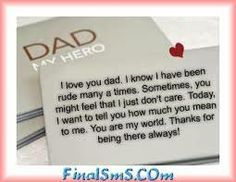 fathers day sayings from teenage daughter