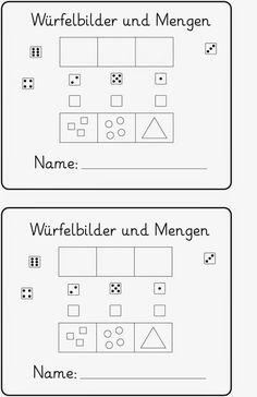 Lernstübchen: Würfelbilder und Mengen (Fördermaterial)