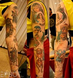 pretty sweet Labyrinth sleeve Hahaha ohmisgosh this made my night. I don't think I would ever get anything like this but man, oh man its great isn't it? 3 Tattoo, Body Art Tattoos, Cool Tattoos, Tatoos, Awesome Tattoos, David Bowie Labyrinth, Labyrinth Movie, Labyrinth 1986, Labrynth Tattoo