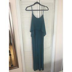 Teal Flutter Jumpsuit Gorgeous silky feel. Great for summer! Forever 21 Dresses